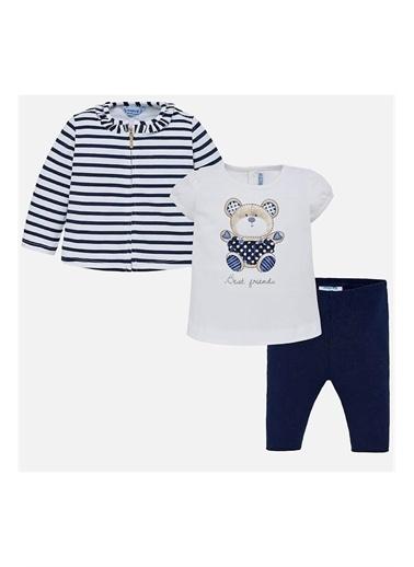 Mayoral Mayoral Yazlık Kız Bebek Bluz Ceket Tayt 3'lü Set 1742 Pembe